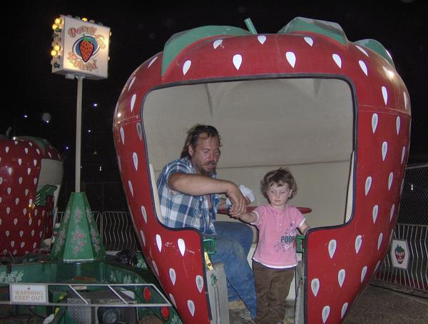 Daddy and Baby Girl at the fair